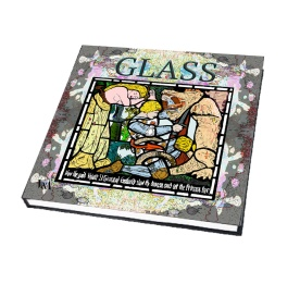 Glass book cover