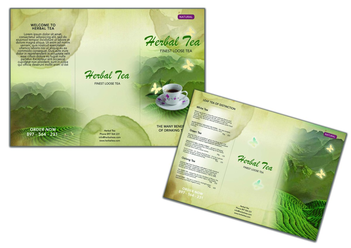Tri Fold TeaBrochure