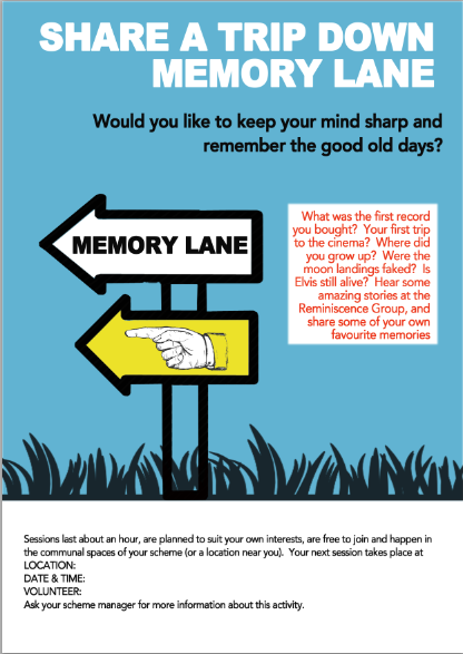 Remembrance Therapy Posters for residentialhome
