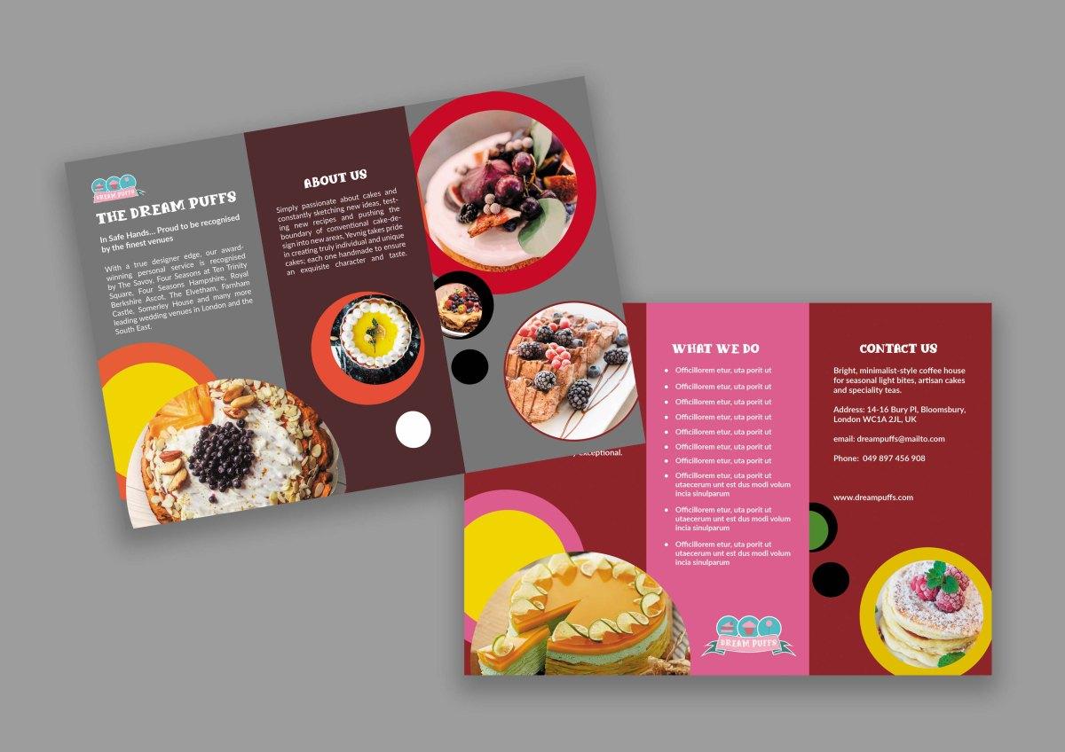 Cake Tri-Fold Brochure