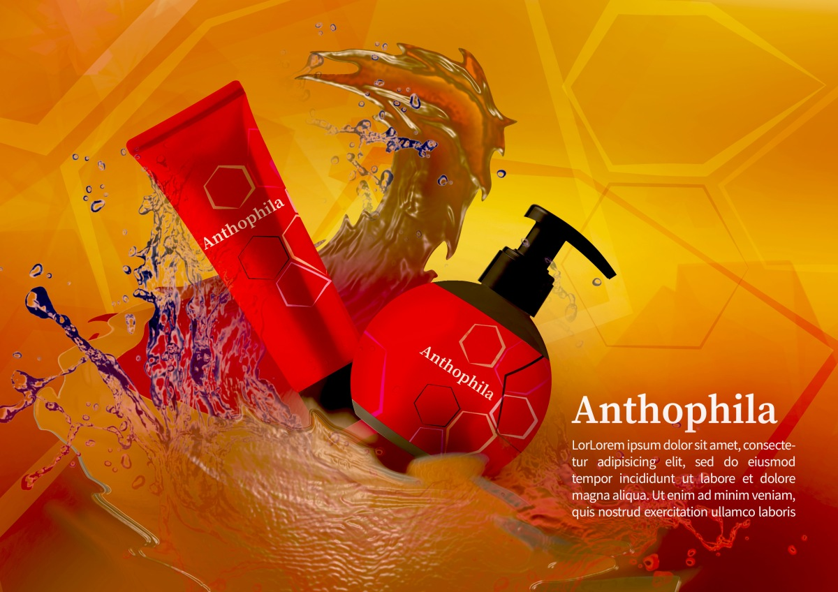 Beauty products advert