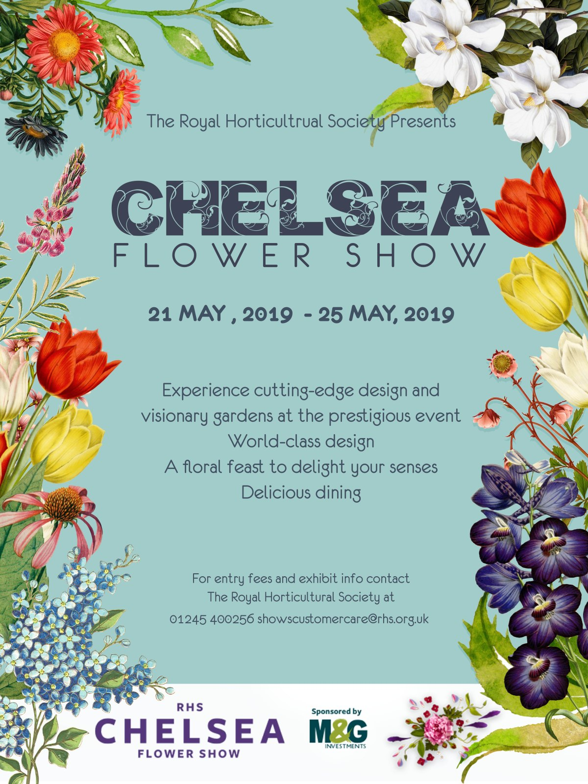 RHS Chelsea Flower Show poster