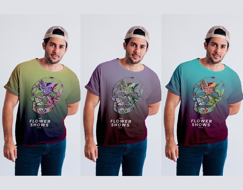 New Men's T-shirt designs for RHS Chelsea show