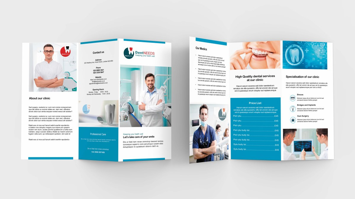 New Dentist Tri-Fold Brochure