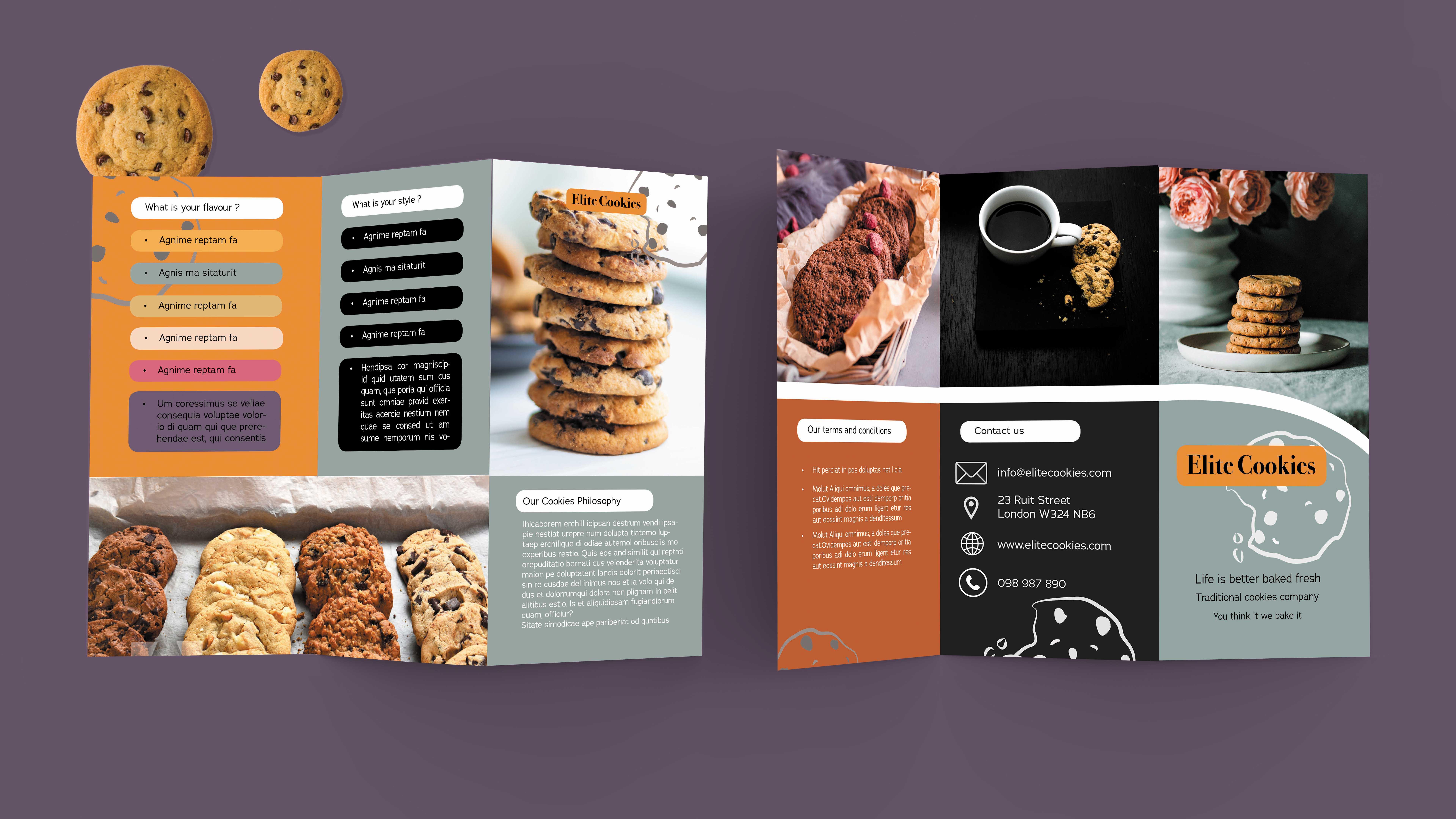 Cookies Tri-fold Brochure
