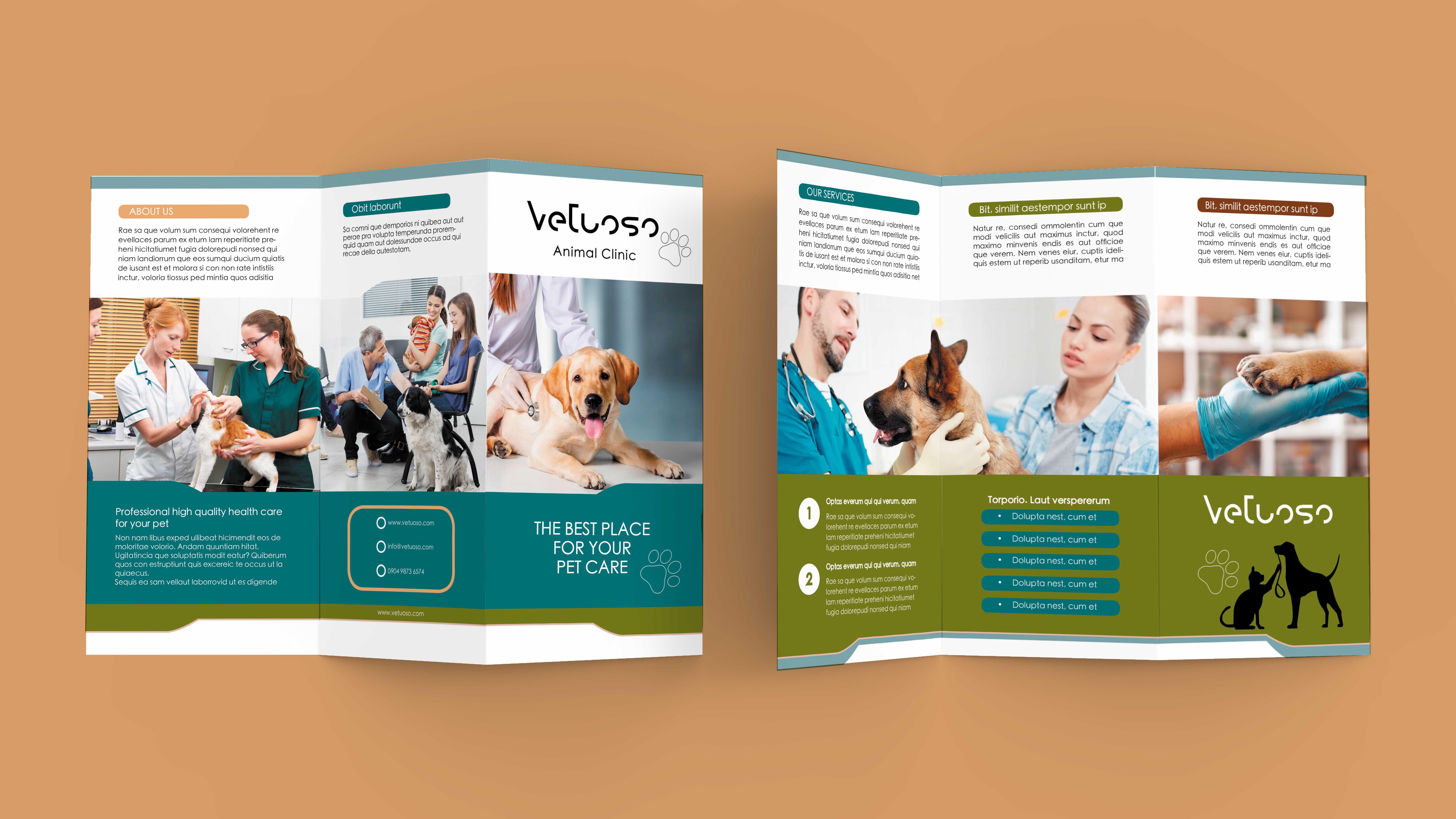 Vet Clinic Trifold Brochure