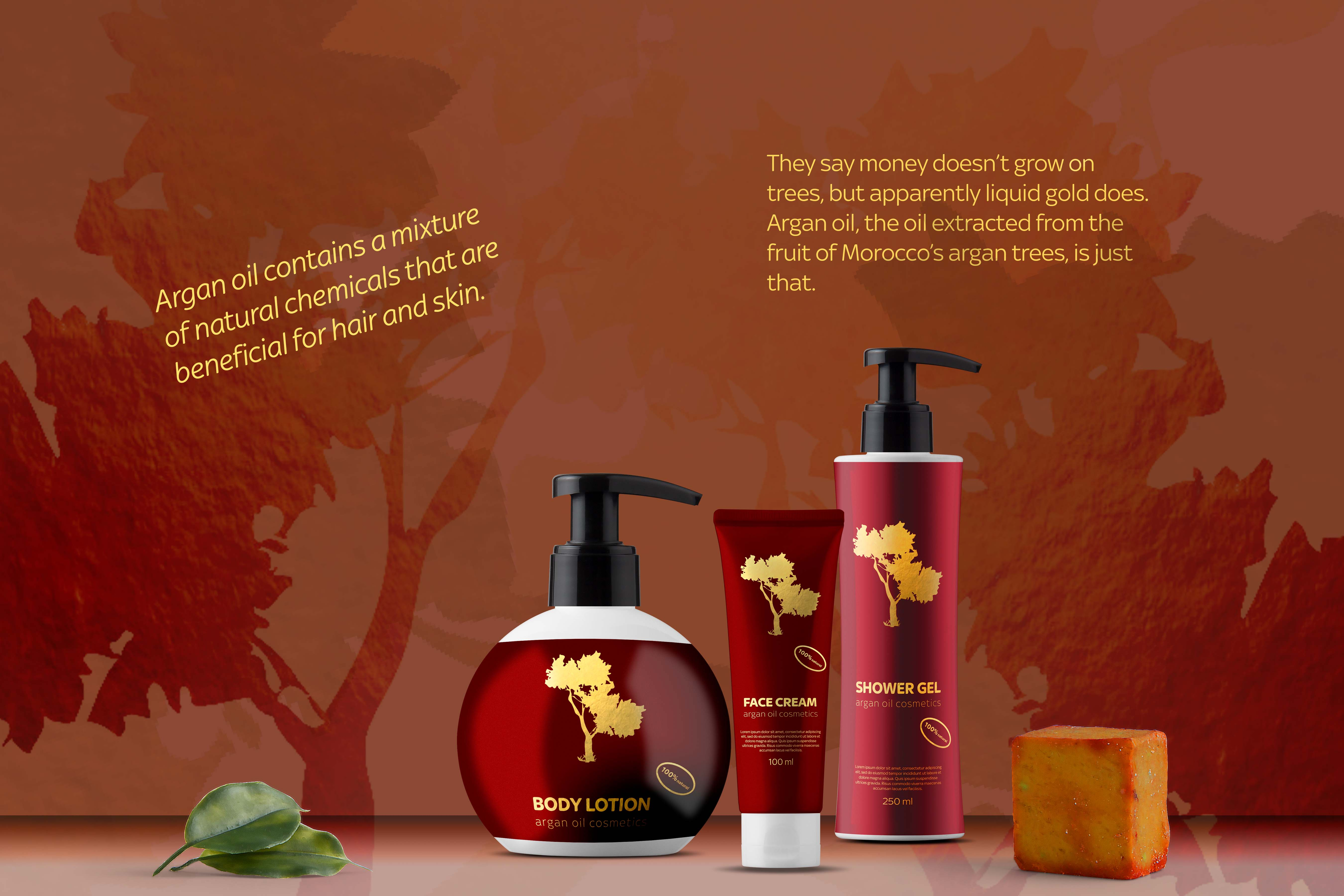 Argan oil cosmetics brand