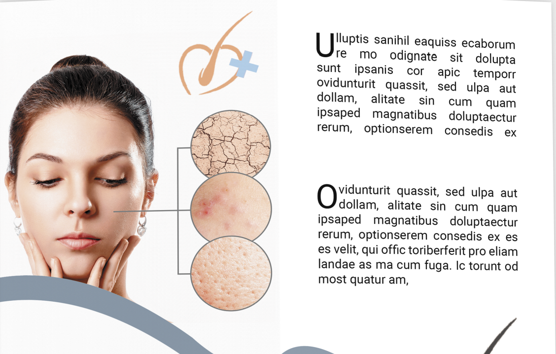 Dermatology and Skin Care Clinic brochure
