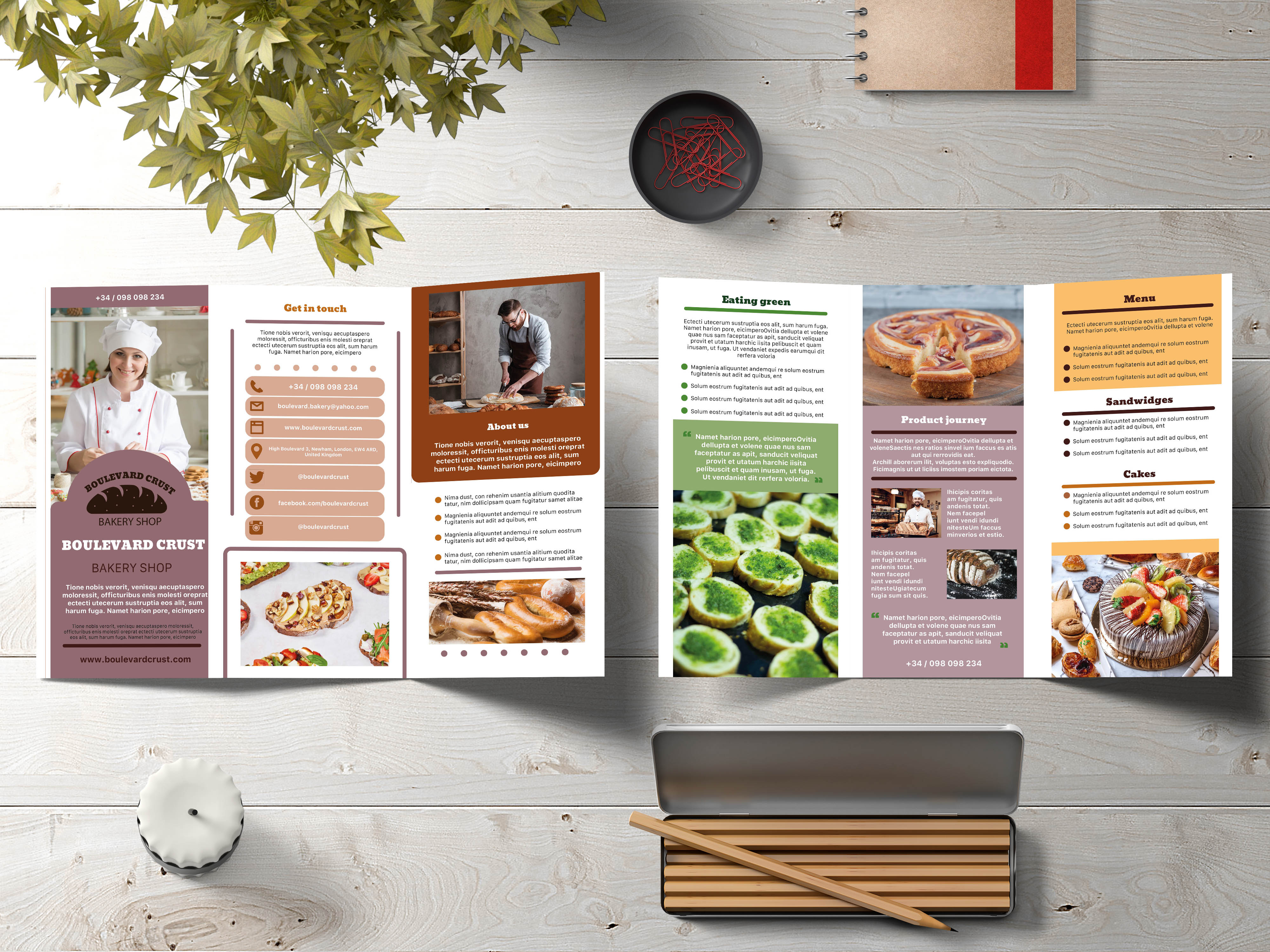 New Bakery Trifold Brochure
